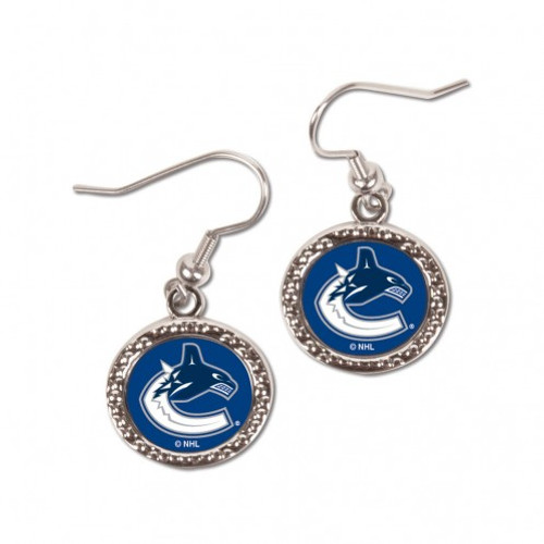 Vancouver Canucks Earrings Round Style - Special Order
