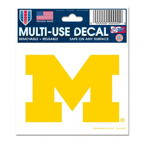 Michigan Wolverines Decal 3x4 Multi Use - Special Order