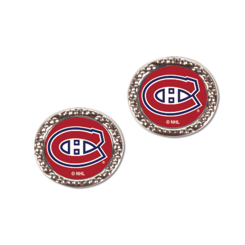 Montreal Canadiens Earrings Post Style - Special Order