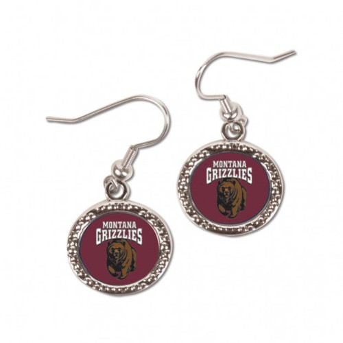 Montana Grizzlies Earrings Round Style - Special Order