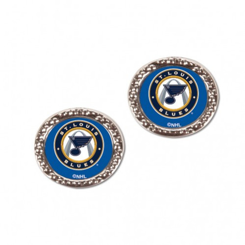 St. Louis Blues Earrings Post Style - Special Order