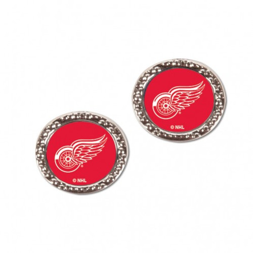 Detroit Red Wings Earrings Post Style - Special Order