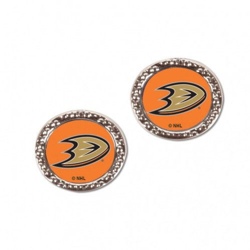 Anaheim Ducks Earrings Post Style - Special Order