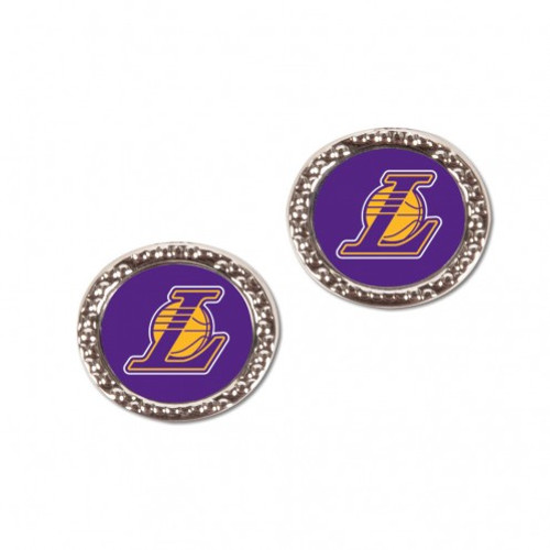 Los Angeles Lakers Earrings Post Style - Special Order