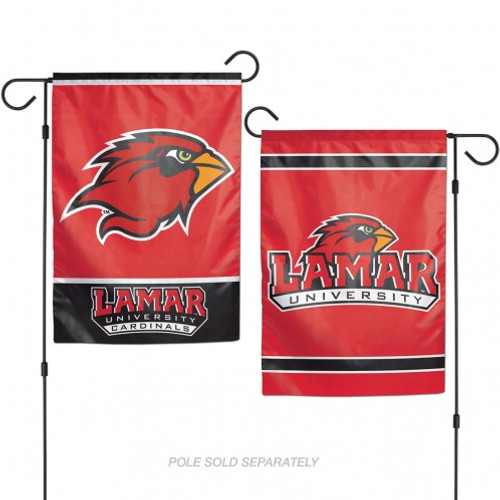 Lamar Cardinals Flag 12x18 Garden Style 2 Sided - Special Order