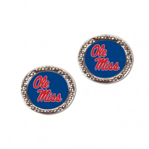Mississippi Rebels Earrings Post Style - Special Order