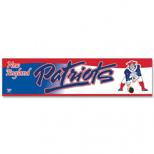 New England Patriots Decal 3x12 Bumper Strip Style Classic Logo Design - Special Order