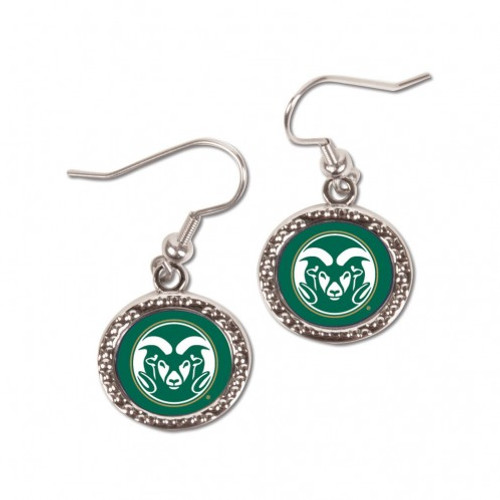 Colorado State Rams Earrings Round Style - Special Order