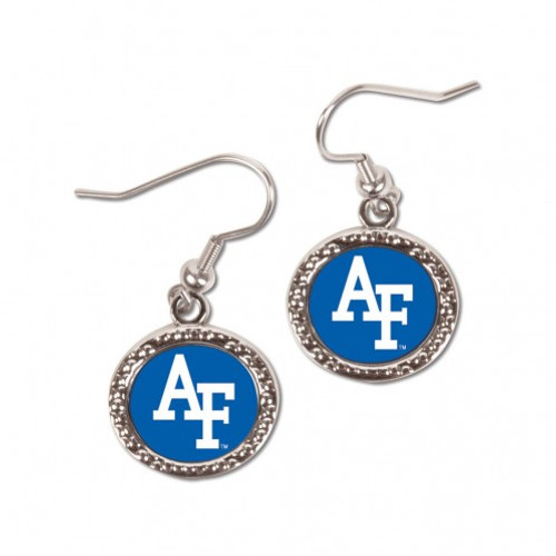 Air Force Falcons Earrings Round Style - Special Order