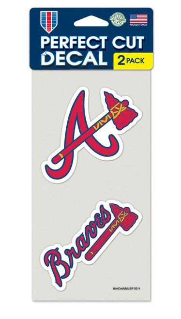 Atlanta Braves Set of 2 Die Cut Decals