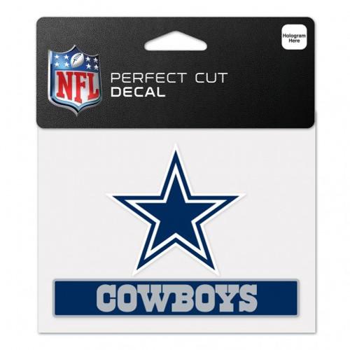 Dallas Cowboys Decal 4.5x5.75 Perfect Cut Color