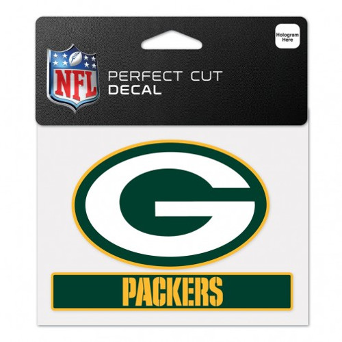 Green Bay Packers Decal 4.5x5.75 Perfect Cut Color