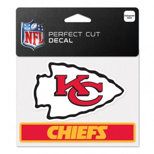 Kansas City Chiefs Decal 4.5x5.75 Perfect Cut Color