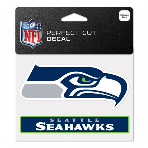 Seattle Seahawks Decal 4.5x5.75 Perfect Cut Color
