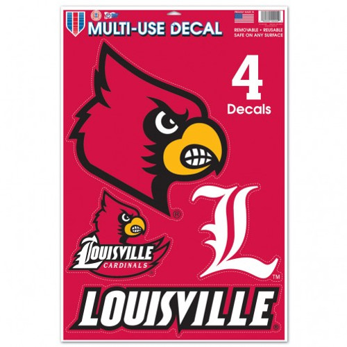 Louisville Cardinals Decal 11x17 Ultra - Special Order
