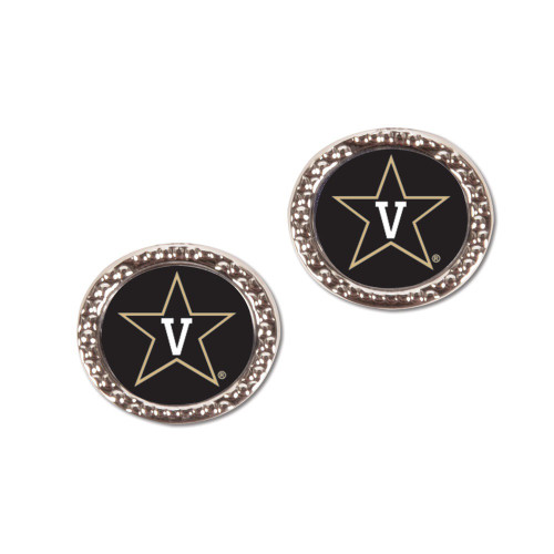 Vanderbilt Commodores Earrings Post Style - Special Order