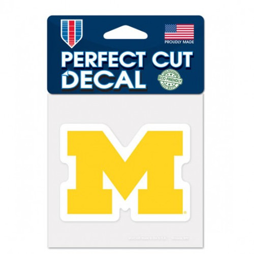 Michigan Wolverines Decal 4x4 Perfect Cut Color