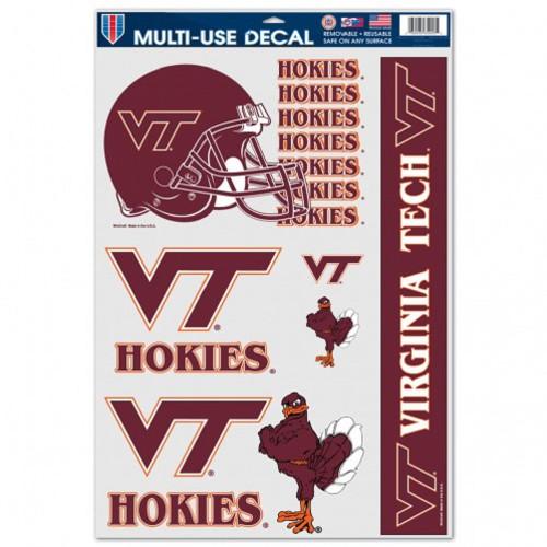 Virginia Tech Hokies Decal 11x17 Multi Use 5 Piece - Special Order