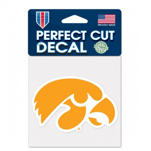 Iowa Hawkeyes Decal 4x4 Perfect Cut Color