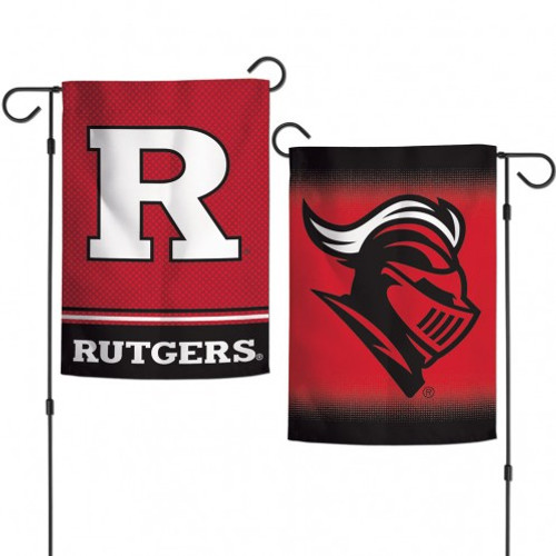 Rutgers Scarlet Knights Flag 12x18 Garden Style 2 Sided - Special Order