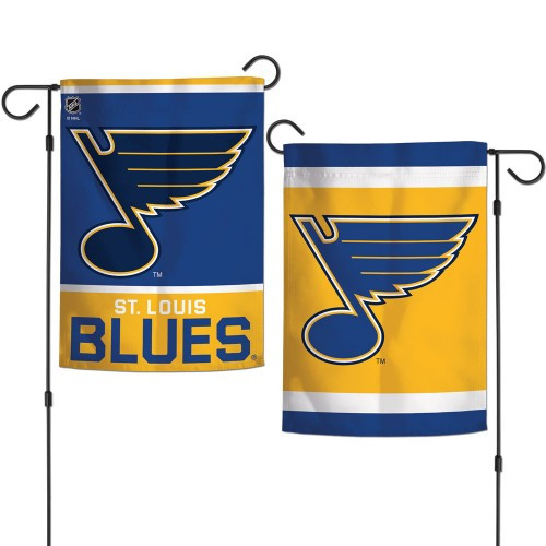 St. Louis Blues Flag 12x18 Garden Style 2 Sided