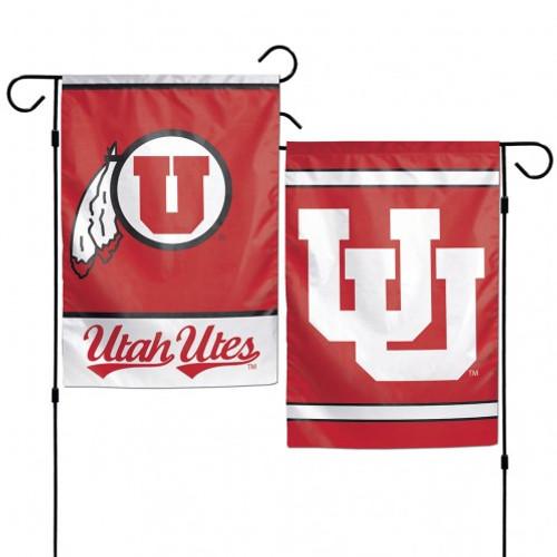 Utah Utes Flag 12x18 Garden Style 2 Sided - Special Order