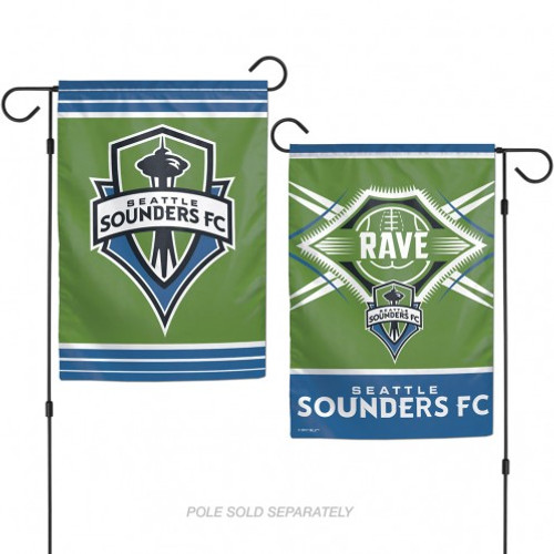 Seattle Sounders Flag 12x18 Garden Style 2 Sided - Special Order