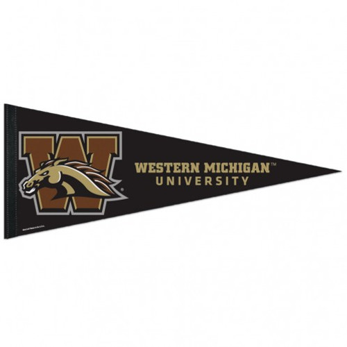Western Michigan Broncos Pennant 12x30 Premium Style - Special Order