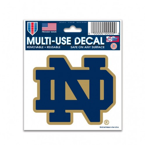Notre Dame Fighting Irish Decal 3x4 Multi Use