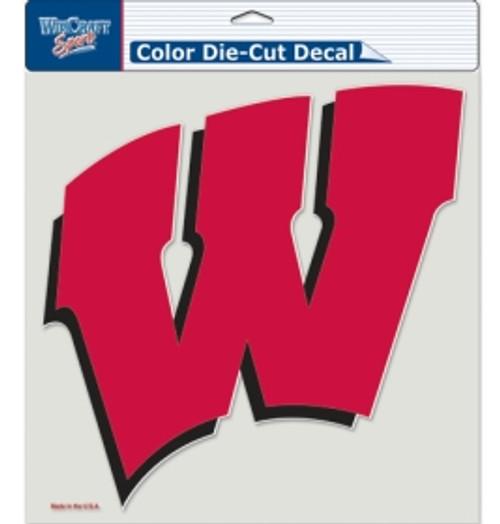 Wisconsin Badgers Decal 8x8 Die Cut Color