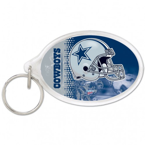 Dallas Cowboys Key Ring Acrylic Carded - Special Order
