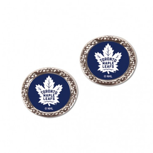 Toronto Maple Leafs Earrings Post Style - Special Order