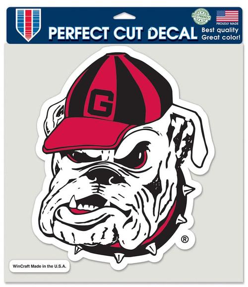 Georgia Bulldogs Decal 8x8 Die Cut Color - Bulldog Logo
