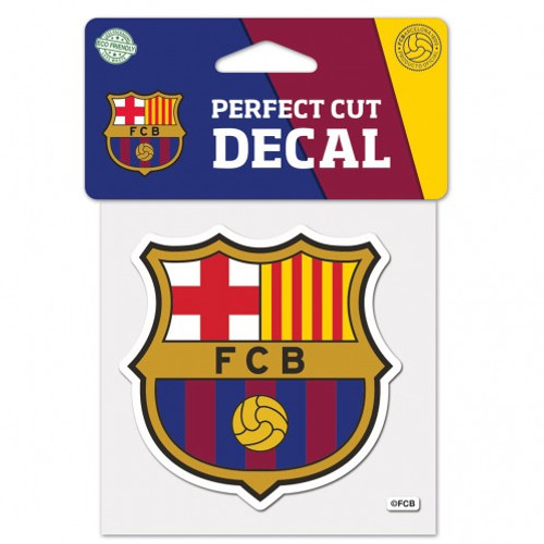 FC Barcelona Decal 4x4 Perfect Cut Color