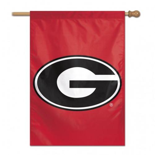 Georgia Bulldogs Banner 28x40 Vertical Logo Design Special Order