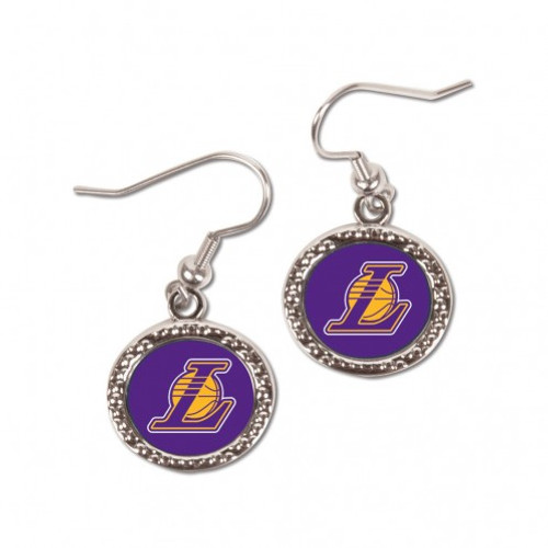 Los Angeles Lakers Earrings Round Style - Special Order