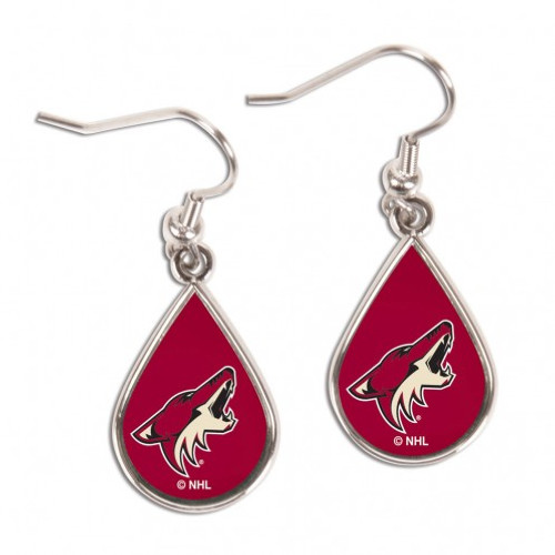 Arizona Coyotes Earrings Tear Drop Style - Special Order