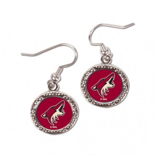Arizona Coyotes Earrings Round Style - Special Order