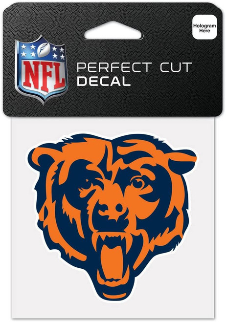 Chicago Bears Decal 4x4 Perfect Cut Color Bear - Special Order