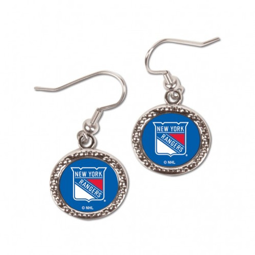 New York Rangers Earrings Round Style - Special Order