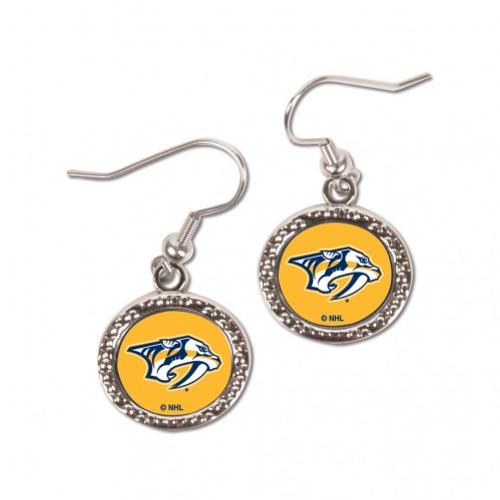 Nashville Predators Earrings Round Style - Special Order
