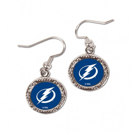 Tampa Bay Lightning Earrings Round Style - Special Order