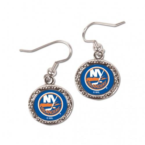 New York Islanders Earrings Round Style - Special Order