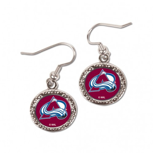 Colorado Avalanche Earrings Round Style - Special Order