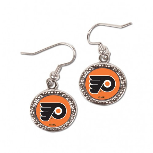 Philadelphia Flyers Earrings Round Style - Special Order