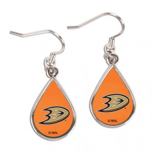 Anaheim Ducks Earrings Tear Drop Style - Special Order