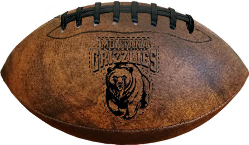 Montana Grizzlies Football - Vintage Throwback - 9 Inches - Special Order