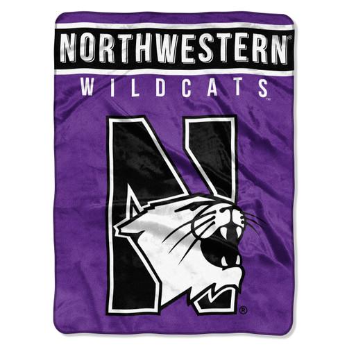 Northwestern Wildcats Blanket 60x80 Raschel Basic Design - Special Order