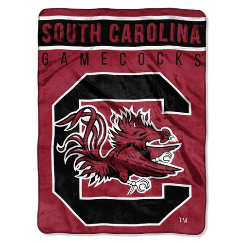 South Carolina Gamecocks Blanket 60x80 Raschel Basic Design - Special Order