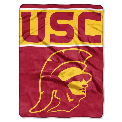 USC Trojans Blanket 60x80 Raschel Basic Design - Special Order